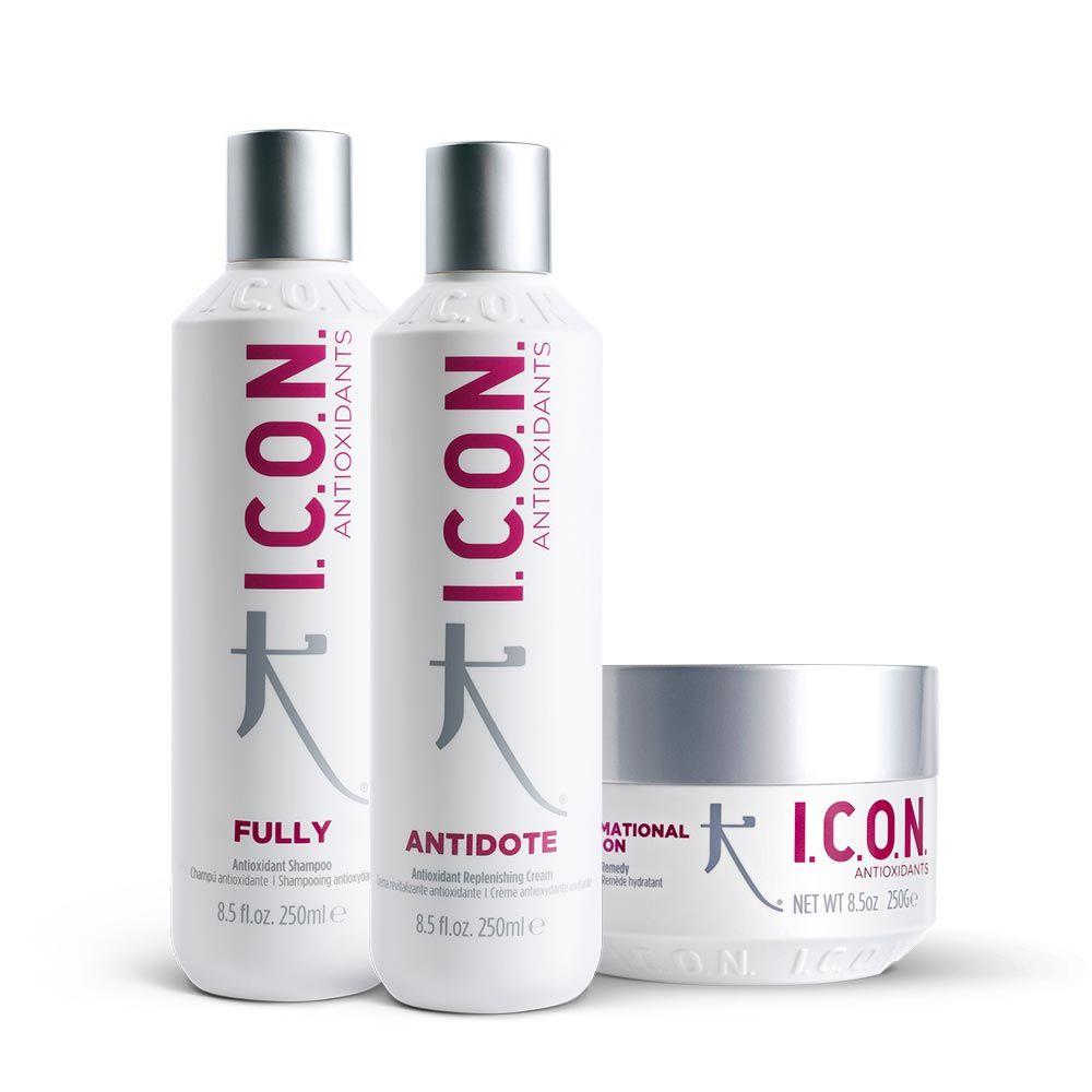 tres productos antioxidantes de icon