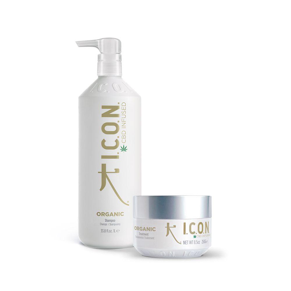 pack organic champu y tratamiento manuela diego peluqueria de icon